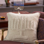 Menorah Pillow by Randy Cavaliere for Red Heart