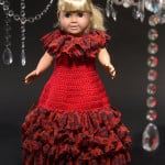 Debutante Doll Dress ~ Kristen Stoltzfus - Red Heart