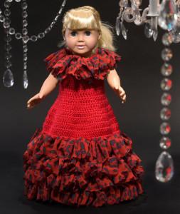 Debutante Doll Dress ~ Kristen Stoltzfus - Red Heart