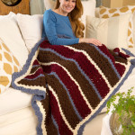 Chunky Shells & Stripes Throw ~ Katherine Eng – Red Heart