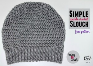 Simple Double Crochet Slouch Hat ~ Oombawka Design