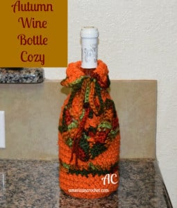 Autumn Wine Bottle Cozy ~ American Crochet