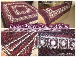 Basket Weave Granny Afghan by Meladora's Creations