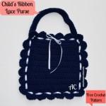 Child's Ribbon Lace Purse ~ American Crochet