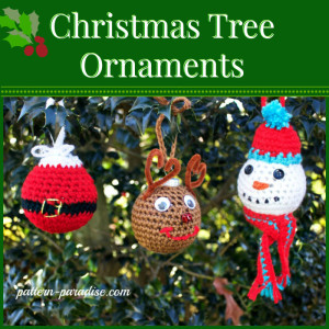 Christmas Tree Ornaments ~ Pattern Paradise