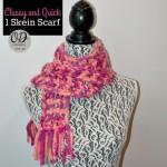 Classy and Quick 1 Skein Scarf ~ Oombawka Design