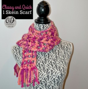 Classy and Quick 1 Skein Scarf ~ Oombawka Design