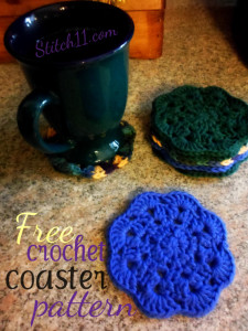 Crochet Coaster ~ Stitch11
