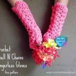 Crochet Shell N Chains Fingerless Gloves ~ Erangi Edeshika – Crochet For You
