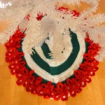 Flowery Christmas Tree Skirt ~ Crochet Parfait