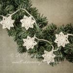 Crochet Stars Christmas Vintage Garland by Natalia Kononova of Outstanding Crochet