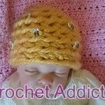 Beehive Baby Beanie ~ Crochet Addict