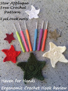Star Appliques in 6 Sizes by EyeLoveKnots
