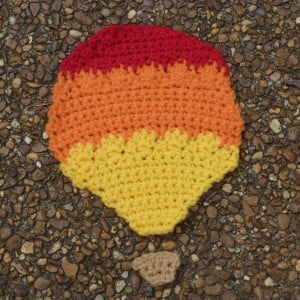 Fiery Hot Air Balloon Applique ~ Amy - Crochet Spot