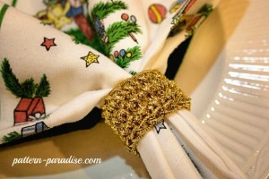 Festive Napkin Rings by Pattern Paradise