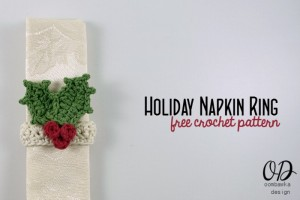 Holiday Napkin Ring ~ Oombawka Design