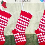 Houndstooth Mini Stocking ~ Erangi Udeshika - Crochet For You