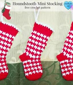 Houndstooth Mini Stocking ~ Erangi Udeshika - Crochet For You