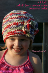 Is it Knit? Basically Just a Crochet Beanie ~ Oombawka Design