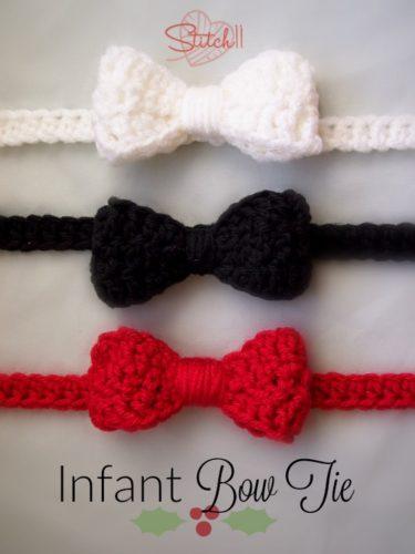 Infant Bow Tie Free Crochet Pattern