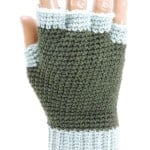 Jersey Mitts for Men ~ Kim Guzman - CrochetKim