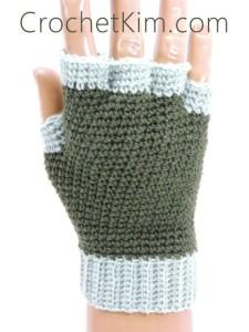Jersey Mitts for Men ~ Kim Guzman - CrochetKim