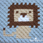 Little Lion Lovey Crochet Blanket ~ Repeat Crafter Me