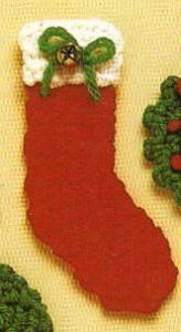 Christmas Stocking Magnet by MomsLoveOfCrochet
