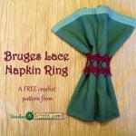 Bruges Lace Napkin Ring ~ Stitches 'N' Scraps
