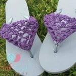 Peekaboo Picot Flip Flops ~ Lisa Egan – Cre8tion Crochet