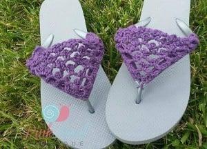 Peekaboo Picot Flip Flops ~ Lisa Egan - Cre8tion Crochet