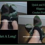 Super Easy and Quick Slipper Pattern ~ Sara Sach – Posh Pooch Designs