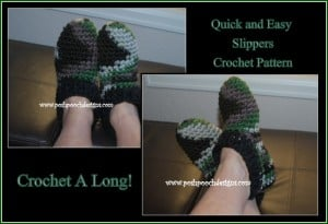 Super Easy and Quick Slipper Pattern ~ Sara Sach - Posh Pooch Designs