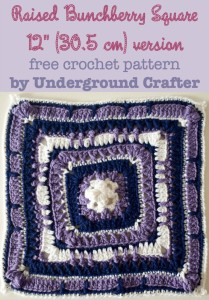 "Raised Bunchberry Square - 12"" (30.5 cm) version ~ Marie Segares/Underground Crafter"