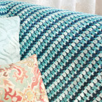 Sea Glass Crochet Afghan ~ Petals to Picots
