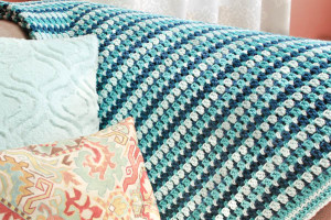 Sea Glass Crochet Afghan ~ Petals to Picots