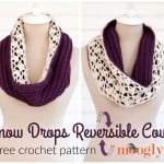 Snow Drops Reversible Cowl ~ Moogly