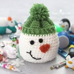 Snowman Sack with Stocking Stuffers ~ Repeat Crafter Me