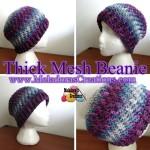 Thick Mesh Beanie ~ Meladora's Creations