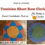 Short Row Circle in Tunisian Crochet ~ Nicole Cormier of Tunisian Crochet for My Hobby is Crochet