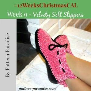 Velvety Slippers ~ Pattern Paradise