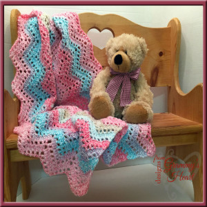 Angel Ripple Baby 'ghan ~ Designs from Grammy's Heart, with Love