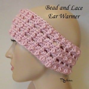 Bead and Lace Ear Warmer ~ Rhelena - CrochetN'Crafts