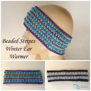 Beaded Stripes Ear Warmer ~ Rhelena - CrochetN'Crafts