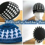 Birds of a Feather Beanie – All sizes ~ Meladora's Creations