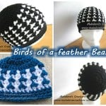 Birds of a Feather Beanie - All sizes ~ Meladora's Creations
