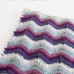 Ripple Chevron Afghan Square ~ One Dog Woof