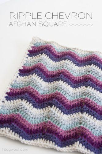 Ripple Chevron Afghan Square Free Crochet Pattern