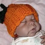 Bev's Newborn Pumpkin Hat ~ Bev's Country Cottage