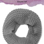 Comfy Squares Textured Cowl by Rebecca Langford of Little Monkeys Crochet